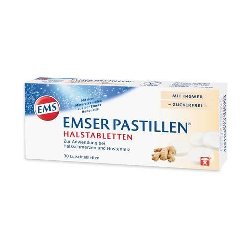 Emser Pastillen Halstabletten mit Ingwer zuckerfrei - 1