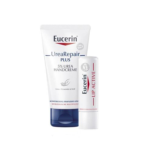 Eucerin Urearepair Plus Handcreme + Lip Active Set - 1
