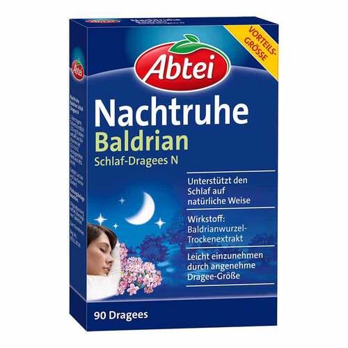Abtei Nachtruhe Baldrian Schlaf-Dragees N - 1
