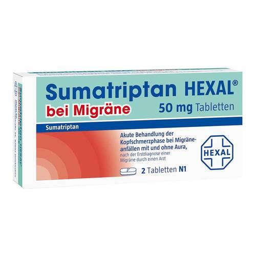 Sumatriptan Hexal bei Migräne 50 mg Tabletten - 1