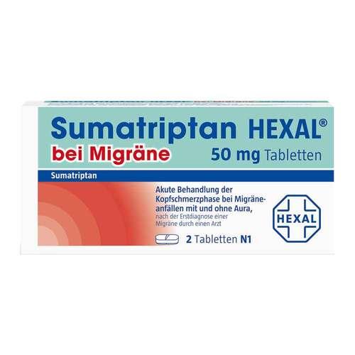 Sumatriptan Hexal bei Migräne 50 mg Tabletten - 2