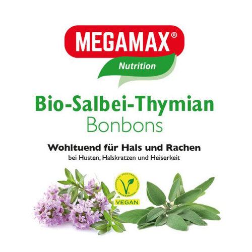 Megamax Bio Salbei-Thymian Bonbons - 1
