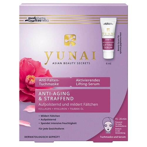Yunai Anti-Falten-Maske 25g + aktiv.Lifting-Ser.4ml - 1