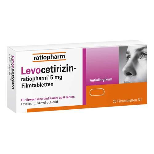 Levocetirizin-ratiopharm 5 mg Filmtabletten - 1