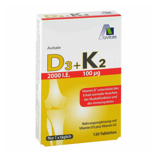 Vitamin D3 + K2 2000 I.E. Tabletten - 1