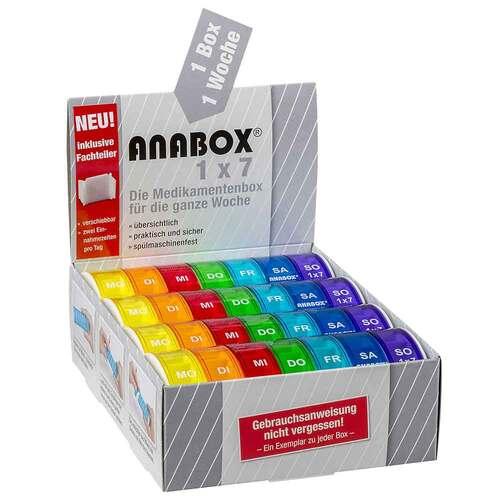 Anabox 1x7 Regenbogen mit Fachteilern - 1