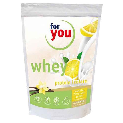 For You whey protein isolate recovery Vanille-Zit. - 1