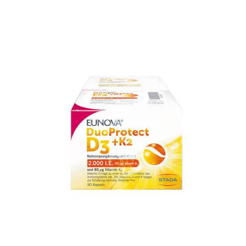 Eunova Duoprotect D3 + K2 2.000 I.E. / 80 µg Kapseln Kombi - 1