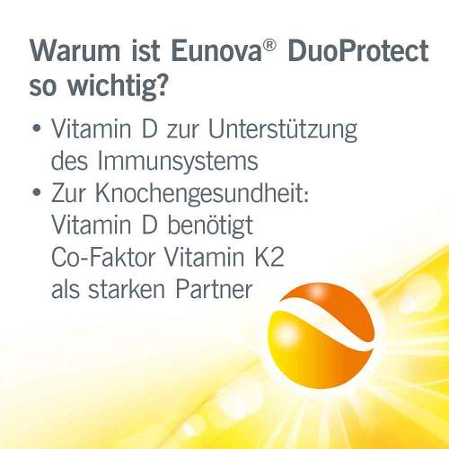 Eunova Duoprotect D3 + K2 2.000 I.E. / 80 µg Kapseln Kombi - 3