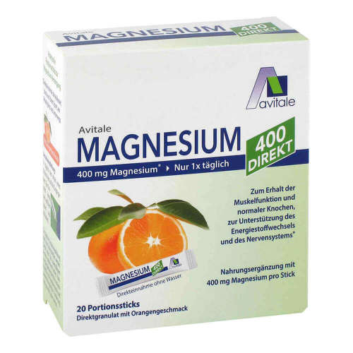 Magnesium 400 direkt Orange Portionssticks - 1