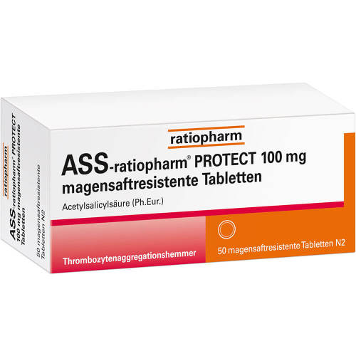 ASS-ratiopharm Protect 100 mg magensaftresistent Tabletten - 1