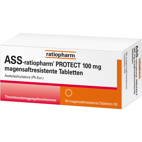 ASS-ratiopharm Protect 100 mg magensaftresistent Tabletten - 2
