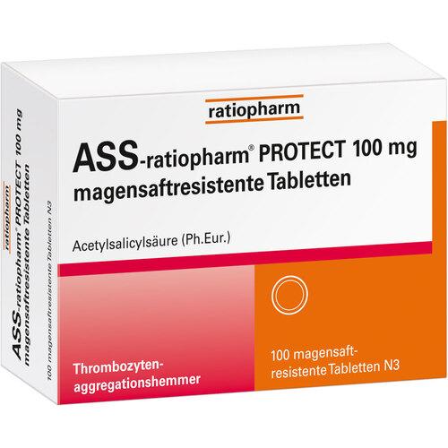 ASS-ratiopharm Protect 100 mg magensaftresistent Tabletten - 1