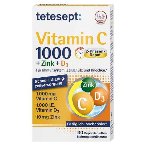 Tetesept Vitamin C 1.000 + Zink + D3 1.000 I.E. Tabletten  - 1