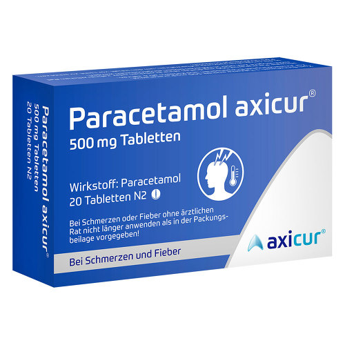 Paracetamol axicur 500 mg Tabletten - 1
