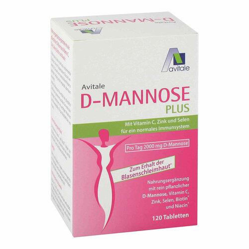 D-Mannose Plus 2000 mg Tabletten mit Vit.und Mineralstof. - 1