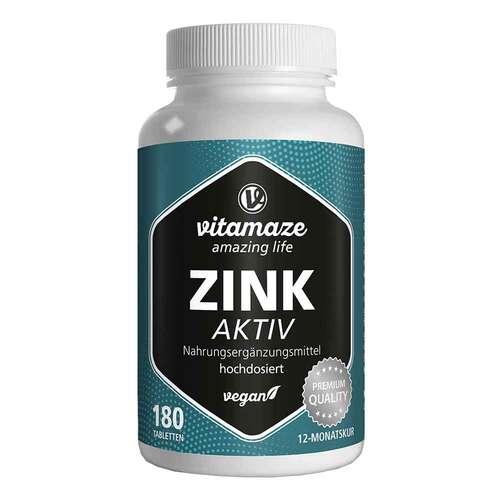 Zink Aktiv 25 mg hochdosiert vegan Tabletten - 1