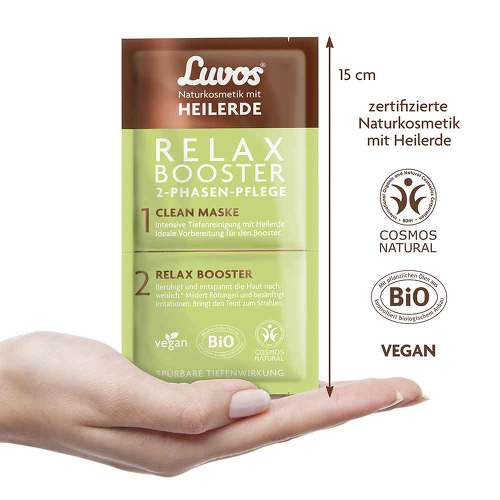 Luvos Heilerde Relax Booster & Clean Maske 2 + 7,5ml - 2