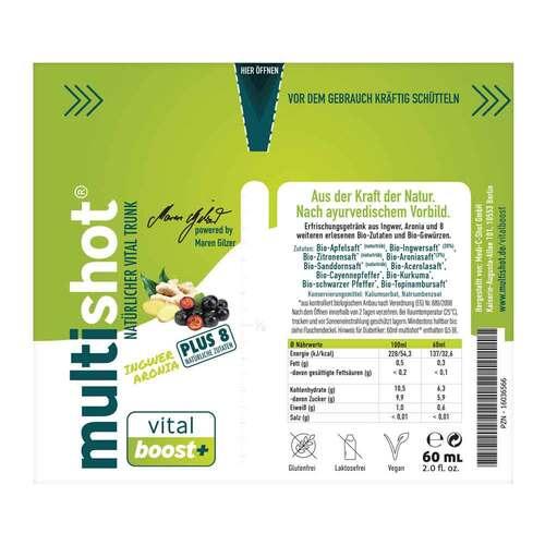 Multishot vital boost + Trinkampullen - 2