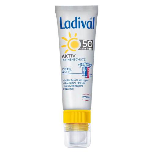 Ladival Aktiv Sonnenschutz Gesicht & Lippen LSF 50 +  - 1
