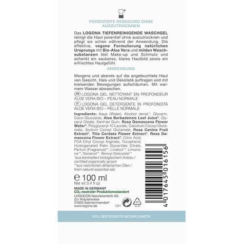 Logona Classic tiefenreinigendes Waschgel Bio-Aloe Vera - 2