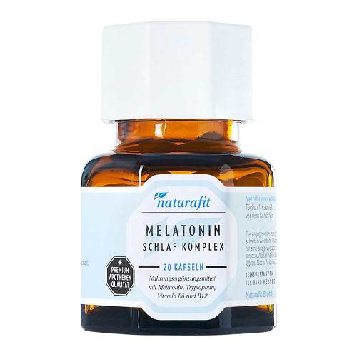 Naturafit Melatonin Schlaf Komplex Kapseln - 1
