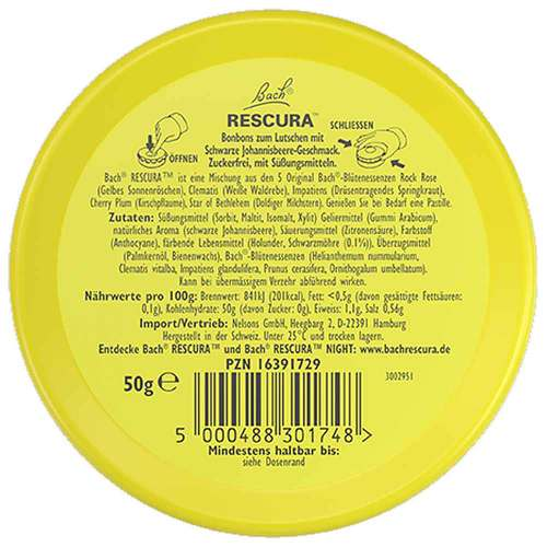 Bachblüten Original Rescura Past.schwarz Johannisb. - 3