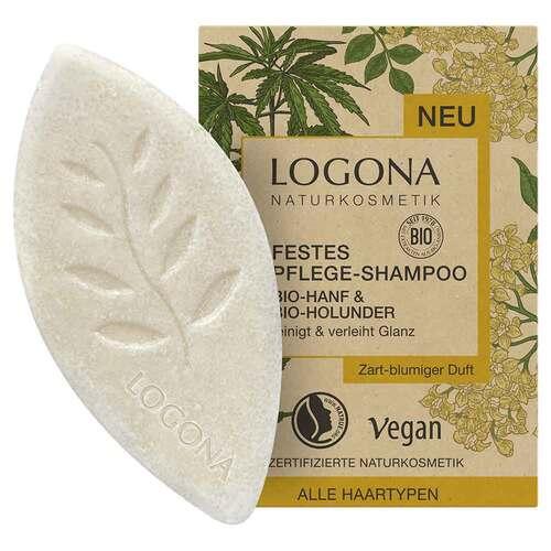 Logona festes Pflege Shampoo Bio-Hanf & Bio-Holunder - 1