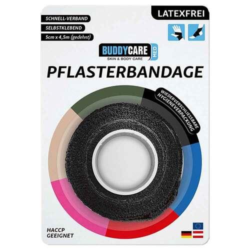 Pflasterbandage latexfrei Buddycare Med schwarz - 2