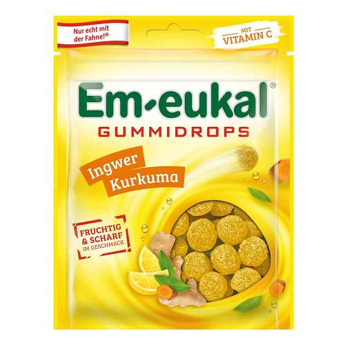 EM Eukal Gummidrops Ingwer-Kurkuma zuckerhaltig - 1