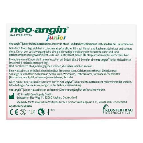 Neo-Angin junior Halstabletten - 2