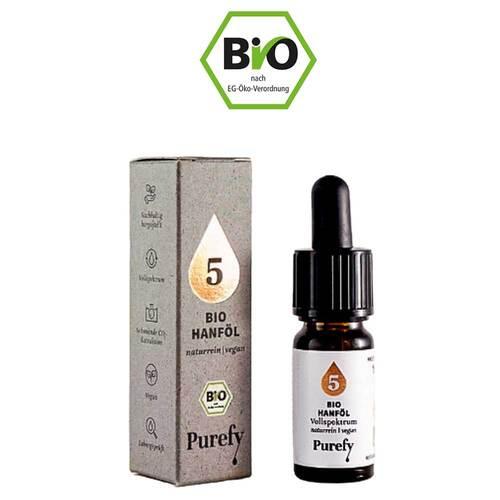 Bio Hanföl 5% Cbd Vollspektrum Purefy Tro.zum Einnehmen  - 1