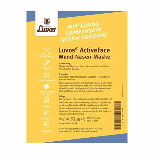 Luvos Activeface Mund-Nase-Maske Größe 1 blaugem. - 3