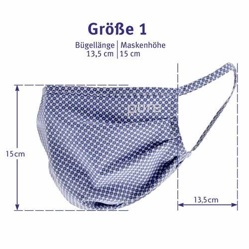 Luvos Activeface Mund-Nase-Maske Größe 1 blaugem. - 4