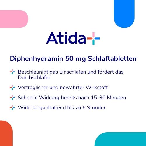 Diphenhydramin Atida+ 50 mg Schlaftabletten - 2