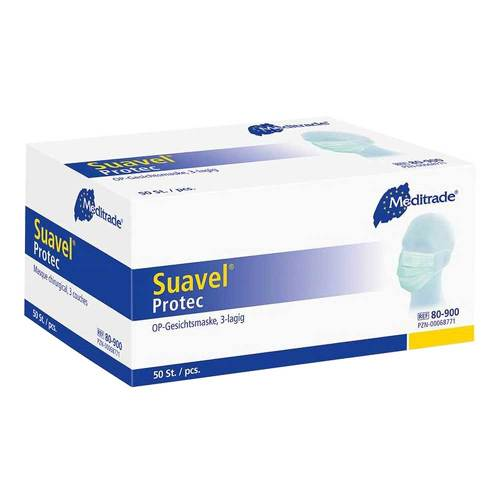 Suavel Protec OP-Maske 3lagig Typ II blau - 1