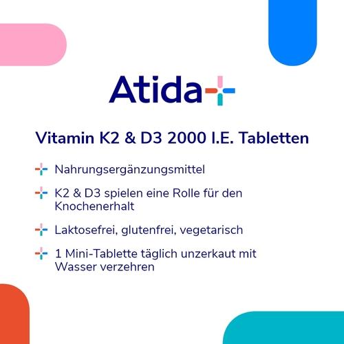 Atida+ Vitamin K2 & D3 2000 I.E. Tabletten - 2