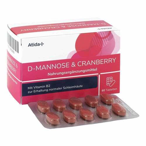 Atida+ D-Mannose & Cranberry Tabletten - 1
