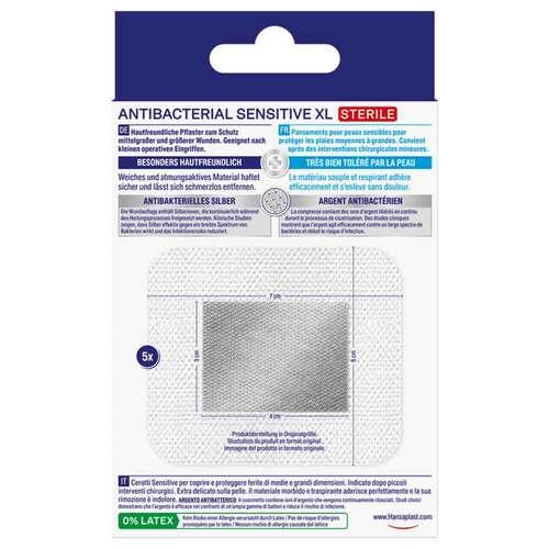 Hansaplast Sensitive Wundverband antibakt.6x7 cm - 2