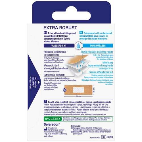 Hansaplast extra robust wasserdicht Pflasterstrips - 2