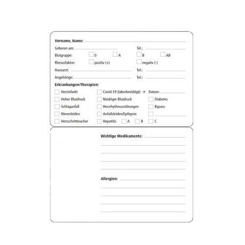 Notfall-Info-Kartenhülle für die Gesundheitskarte - 2