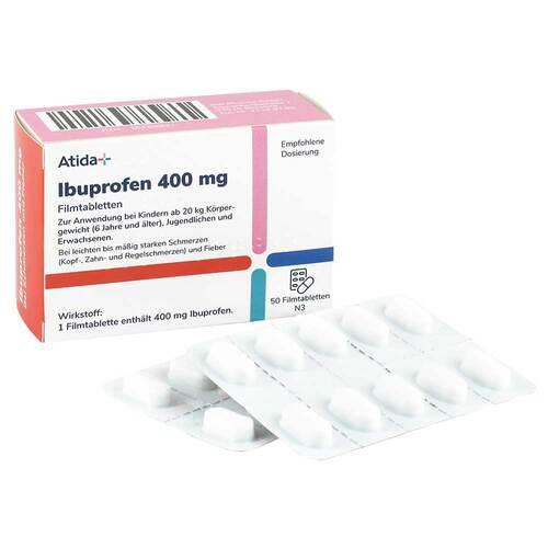 ATIDA+ Ibuprofen 400 mg Filmtabletten - 1