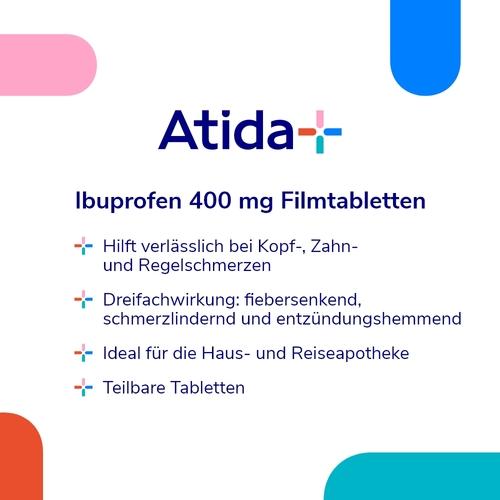 ATIDA+ Ibuprofen 400 mg Filmtabletten - 2