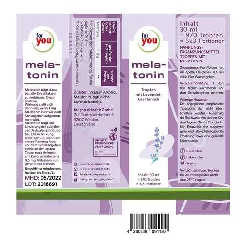 For You melatonin Lavendel Tropfen - 3
