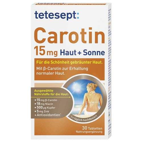 Tetesept Carotin 15 mg Haut + Sonne Filmtabletten - 1