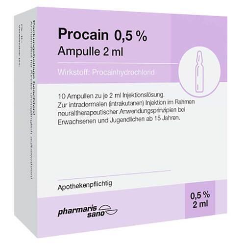 Procain 0,5% Injektionslösung Ampulle 2 ml - 1