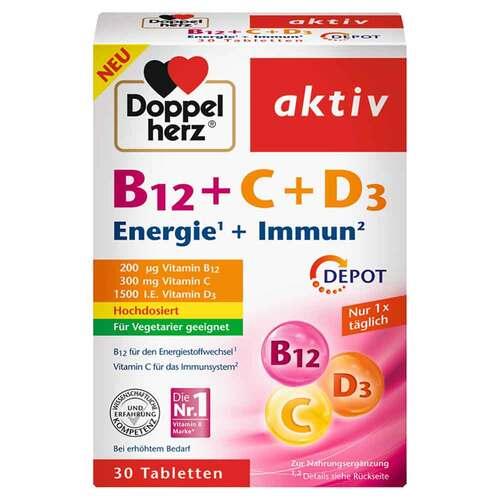 Doppelherz B12 + C + D3 Depot aktiv Tabletten - 1