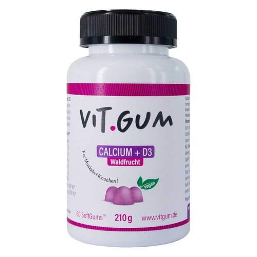 Vitgum Calcium + D3 Waldfrucht vegan Softgums - 1