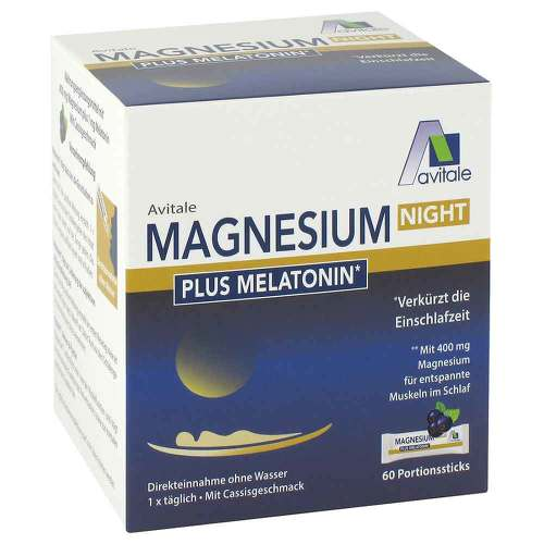Magnesium Night plus 1 mg Melatonin Pulver - 1