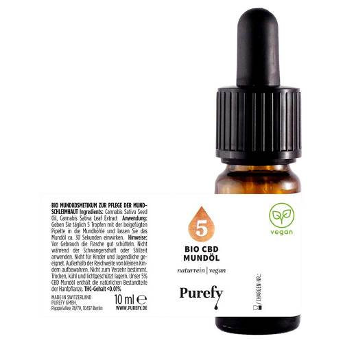 Bio Cbd Mundöl 5% Purefy - 2